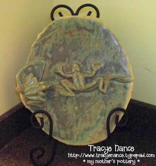 MT Frog Deco Plate for Tracye